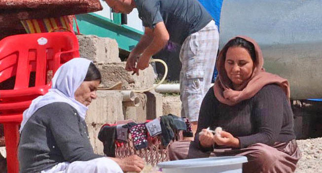 Wohncontainer für Flüchtlinge im Irak