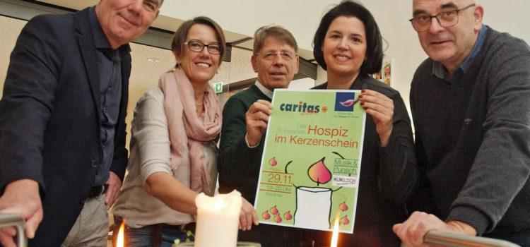 Caritas Witten lässt am Hospiz 1000 Kerzen leuchten